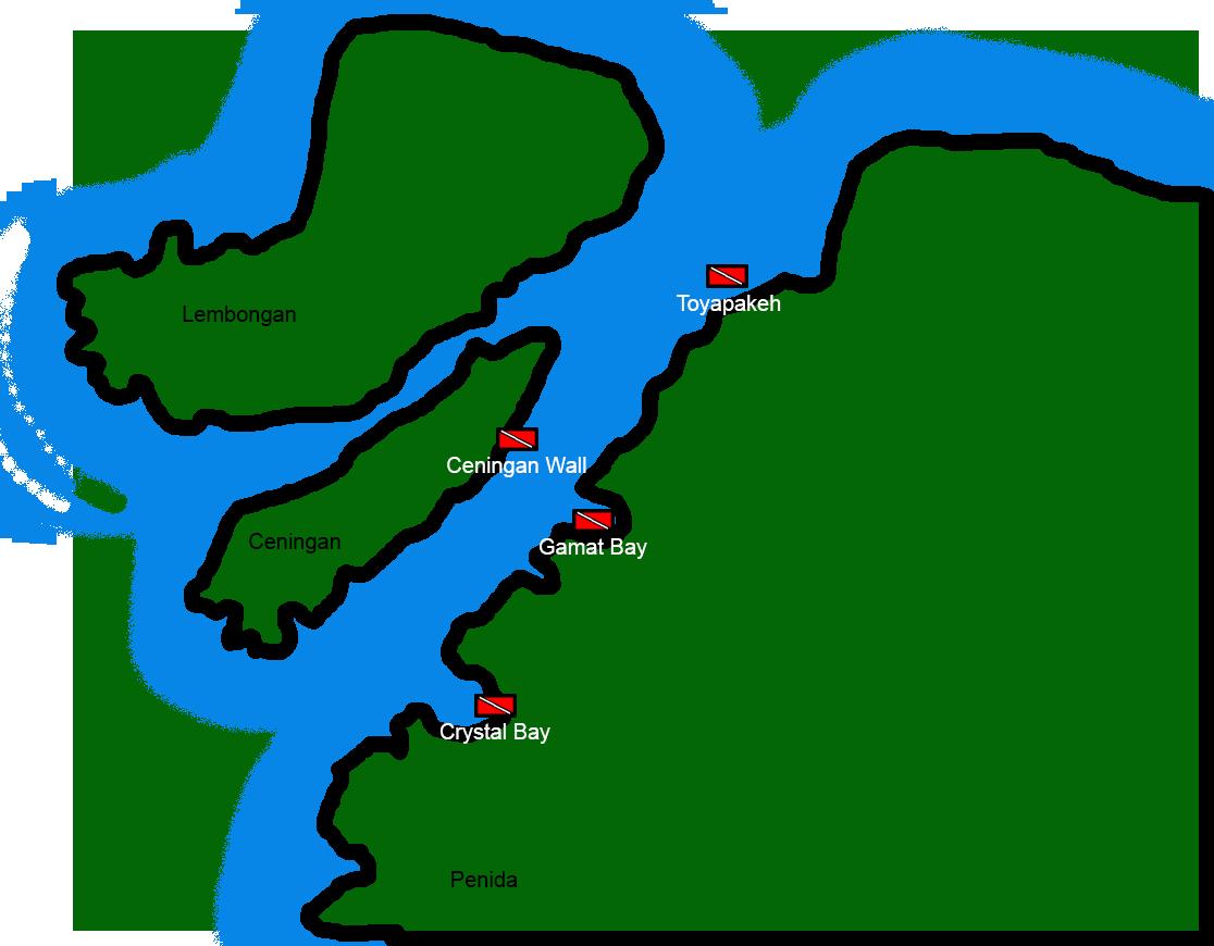 Channel between Penida and Ceningan